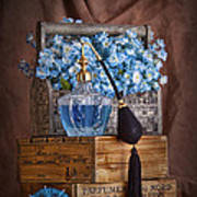 Blue Flower Still Life Art Print