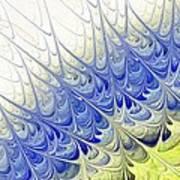 Blue Folium Art Print