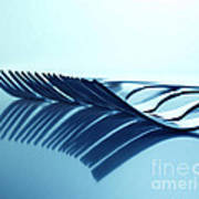 Blue Forks Art Print