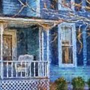 Blue Front Porch Photo Art 01 Art Print