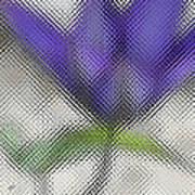 Blue Glass Flower Art Print