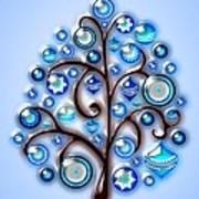 Blue Glass Ornaments Art Print