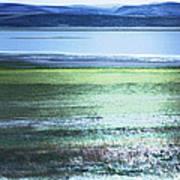 Blue Green Landscape Art Print