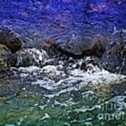 Blue Green Water Art Print