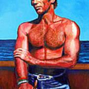 Blue Grotto Boatman Art Print