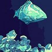 Blue Grouper Art Print