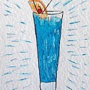 Blue Hawaiian Cocktail Art Print