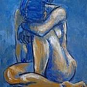 Blue Heart - Female Nude Art Print