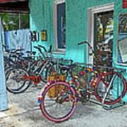 Blue Heaven Key West Bicycles Art Print