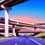 Blue Highway 7 Art Print