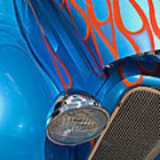 Blue Hot Rod Art Print