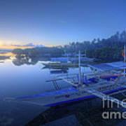 Blue Hour At Panglao Port Art Print