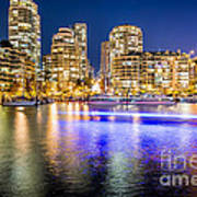 Blue Hour In Vancouver Art Print