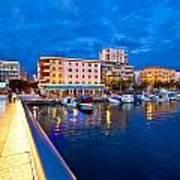 Blue Hour Zadar Waterfront View Art Print