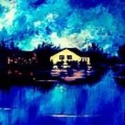 Blue House  Art Print