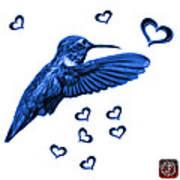 Blue Hummingbird - 2055 F S M Art Print