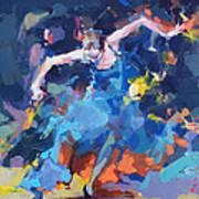 Blue Hurricane Art Print