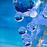 Blue Ice Bubbles Art Print