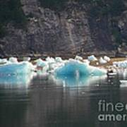 Blue Ice Flows Art Print
