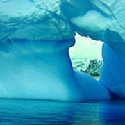 Blue Iceberg Antarctica Art Print