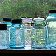 Blue Jars Art Print