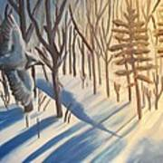 Blue Jay Winter Art Print