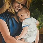 Blue Jean Madonna Art Print