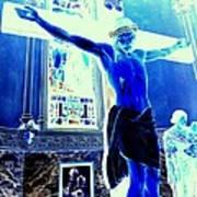 Blue Jesus Art Print