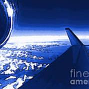 Blue Jet Pop Art Plane Art Print