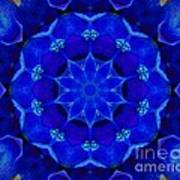 Blue Kaleidoscope  Art Print