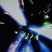 Blue Laser Art Print