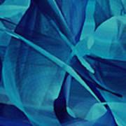Blue Linear Mesh No 1 Art Print