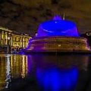 Blue London Fountain Art Print