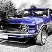 Blue Mach 1 Art Print by motography aka Phil Clark