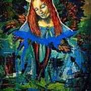 Blue Madonna In Tree Art Print