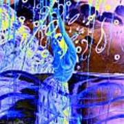 Blue Maqical Sensualism Art Print