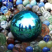 Magic Blue Marble Art Print