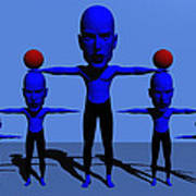 Blue Men Art Print