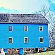 Blue Mill Historic Walnford Mill  Art Print