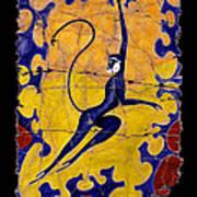 Blue Monkey No. 13 Art Print