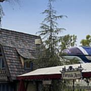 Blue Monorail Fairytale Arts Disneyland Art Print