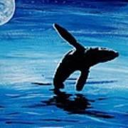 Blue Moon II - Right Side - Acrylic Art Print