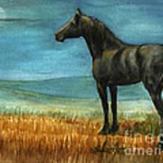Blue Moon Print by Linda L Martin