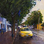 Blue Moon On A Rainy Day Art Print