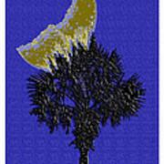 Blue Moon Over Palmetto  Art Print