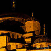 Blue Mosque At Night 02 Art Print