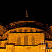 Blue Mosque At Night 03 Art Print