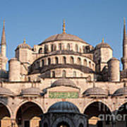 Blue Mosque Domes 01 Art Print