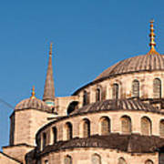 Blue Mosque Domes 07 Art Print