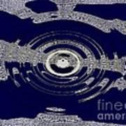 Blue Motion Art Print
